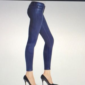 Hudson Krista wax coated jean in Midnight Blue-25